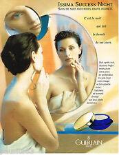 PUBLICITE ADVERTISING 055  1996  GUERLAIN    cosmétiques  ISSIMA  SUCCES NIGHT