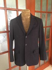 J CREW Men Casual Wool Striped Navy Blue Colour Vintage Style Size 38r