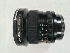 Canon FD 20mm f/2.8 manual focus Lens w/rear cap wide angle #40087