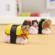 5 Pcs/Set Mini Cute Sushi Neko Cat Club Capsule Meow Figure Kitty Collection