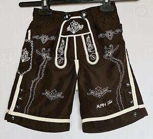 BOYS SHORTS PANTS VINTAGE AUTHENTIC ALPIN OKTOBERFEST DIRNDL TYROL :US 4/EU104