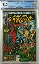 Amazing Spider-Man #124 CGC 8.0 White Pages 1st app. of the Man-Wolf!L@@K!