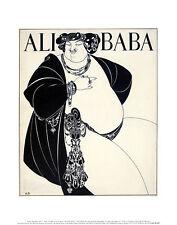 Aubrey Beardsley Ali Baba piccolo poster stampa d'arte immagine 36x28cm-porto franco
