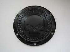 Harley Davidson Skull Derby Deckel Kupplungsdeckel schwarz matt Sporty 25700744