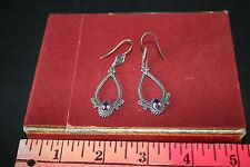Amethyst Suarti Dangle Earrings Sterling Silver & 18K Gold