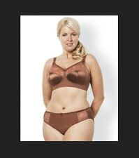 Elomi Kristie Collection 44H 2X Soft Cup Side Support Bra Panty Set Cocoa New