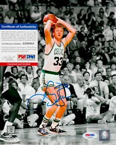 Larry Bird Boston Celtics Signed Autograph 8 x 10 Photo PSA DNA AE65955