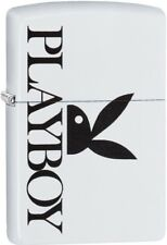 Zippo 2018 White Playboy Bunny Logo Pattern White Matte Windproof Lighter 29579