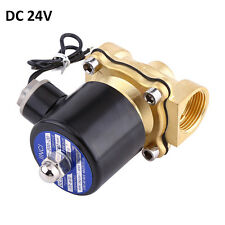 "3/4"" 24V DC Electric Brass Solenoid Valve Water Gas Air DN20 BSPP Normally Close"