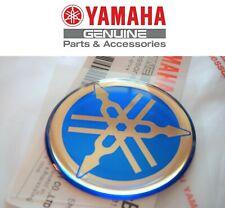GENUINE YAMAHA Chrome R1 R6 R7 XJR YZF Blue Gel Tank Emblem 40mm