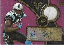 2015 Topps Triple Threads Rookie Relics Purple Devin Funchess Auto Jersey /75