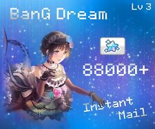 �Jp】�Instant Mail】88000+ Gems,Lv 3 BanG Dream,Girls Band Party account