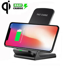 For Apple iphone X 8 7 6 Plus Qi Wireless Fast Charger Charging Stand Dock Pad