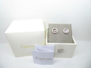 Clogau Gold, Silver & Rose Gold Rose Quartz Ripple Stud Earrings RRP £139