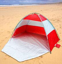 SALE -Red/Grey Beach Festival Tent Shelter SPF40 Camping Garden Screen Sun Shade