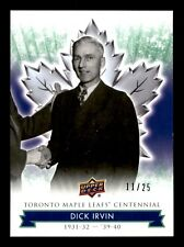 DICK IRVIN 2017  MAPLE LEAFS TORONTO CENTENNIAL GREEN NO 31 XX/25  20022