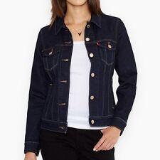 New LEVI'S Size: Small Slim Fit Dark Blue Stretch Denim Jacket. Джинсовка Куртка