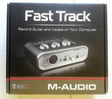 M-Audio Fast Track Pro Digital Recording Interface guitar vocals on computer