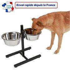 Gamelle double pour chien réglable en hauteur