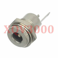 10pcs Connector DC Power 5.5mm x 2.1mm female jack socket bulkhead panel brass