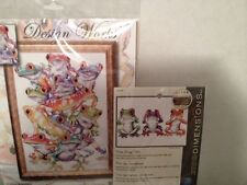 NEW Dimensions and Design Works Frogs Lot of 2 Sealed Counted Cross Stitch Kits