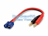 Battery Charger Charging Leads: EC3 Male to 4mm Bullet Banana Losi ParkZone EC-3