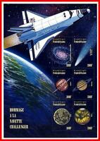 CENTRAL AFRICA 1996 SPACE SHUTTLE & PLANETS / ASTRONOMY large M/S CV$8.00 MNH **