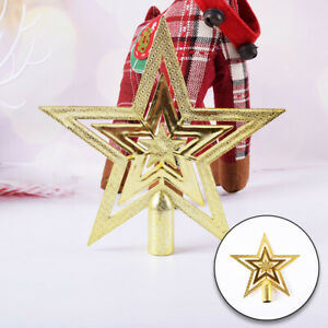 Christmas Tree Top Star Topper Five-Pointed Star Stereoscopic Xmas Ornaments New