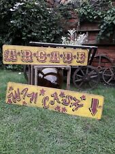 Fairground Funfair Arcade sign dodgem waltzer mancave Allwin slot machine Bandit