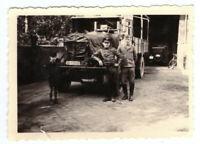 Foto 2.WK LKW deutsche Soldaten Luftwaffe Frankreich ca. 1940 Wehrmacht WW2 C11