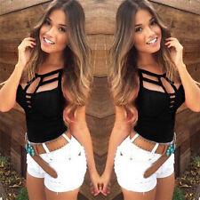 Sexy Women's Summer Vest Top Sleeveless Blouse Casual Tank Tops T Shirt New