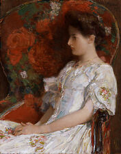 Hassam Childe The Victorian Chair Canvas 16 x 20 #6774