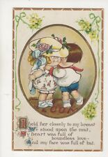 I Held Her Closely To My Breast [E57] 1914 Embossed Comic Children Postcard 262b