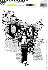 Carabelle Studio A5 Cling Stamp-Dreams, Rubber, White/Transparent Dreams