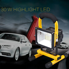 Portable 30W LED Floodlight IP65 Outdoor Work Lights Rechargeable Charger Lamp