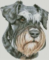 Cross Stitch Chart - Kit Schnauzer Dog