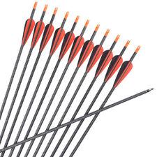 "12X 30"" Carbon Arrows Recurve Bow Archery Arrows SP340 Target Shooting Arrows"