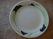 CORELLE BLACK ORCHID BREAD/DESSERT PLATES WHITE VEIN X2 FREE USA SHIPPING