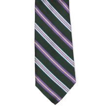 New BARNEYS NEW YORK Green Blue Purple Striped Men's Silk Neck Tie NWT $145