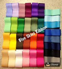 "32 yards 1.5"" grosgrain ribbon wholesale bow supplies lot solid grab bag mix"