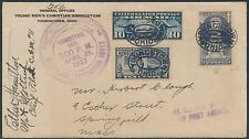 #628; #C7, #E15 ON 1ST FLT COVER CLEVELAND TO PITTSBURGH W/ PILOT SIGNED BR9129