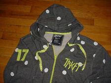 TRUKFIT Respect Few Polka Dot Gray/Lime/White Full Zip Up Hoodie Men XXL Sharp!