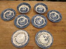 8 pcs: Romantic England Buckinghamshire Chequers Ironstone Meakin BOWLS & PLATES