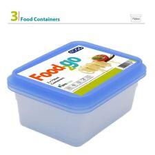 3 x 750 ml privo di BPA plastica contenitore per cibo Storage Box Coperchio vasca da bagno Set Pranzo Porzione