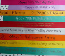 Personalised 20mm double face satin woven edge Ribbon min, order only 1 metre