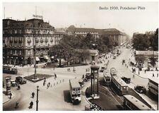 Ansichtskarte: Potsdamer Platz mit Bussen und Straßenbahn, Berlin, 1930, Replik