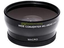 Aggiuntivo grandangolare 0,45x MACRO innesto 58mm. wide