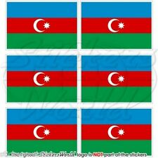 ASERBAIDSCHAN Flagge Fahne Handy Mini-Aufkleber, Vinyl Sticker 40mm x6