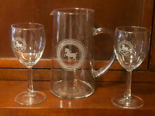 DEVON  HORSE SHOW AND COUNTRY FAIR PITCHER AND WINE GLASSES