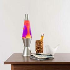 Lava The Original 14.5-Inch Silver Base Lamp with Yellow Wax in Purple Liquid